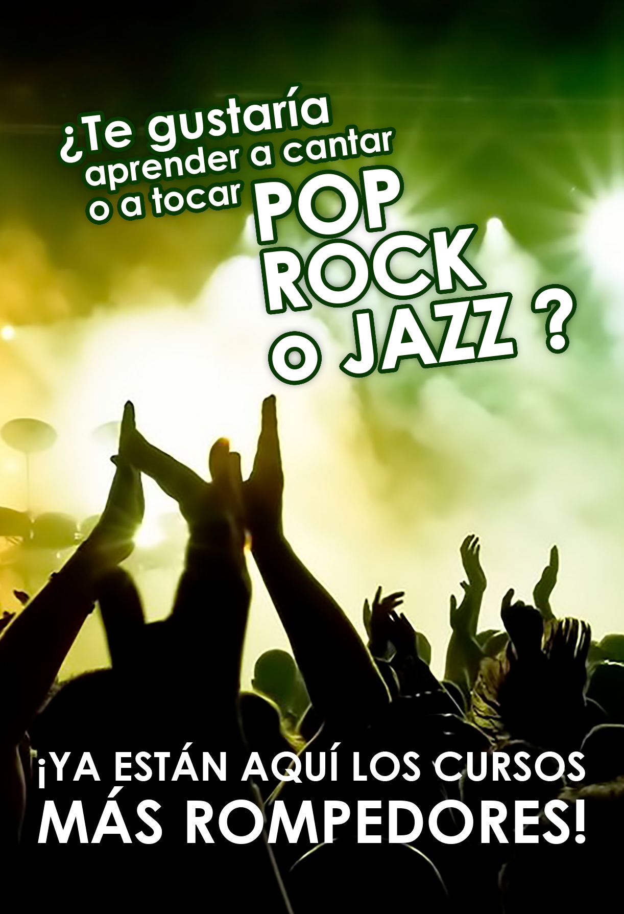 jazz, pop, rock, cantar